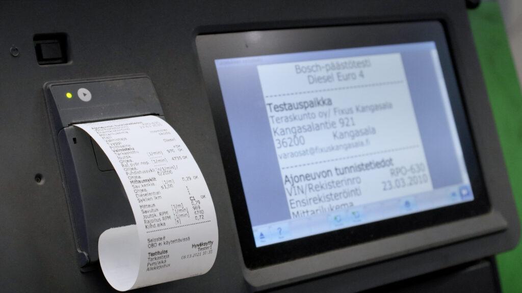 Fixus Kangasala tekee myös tarkat ja luotettavat pakokaasumittaukset.